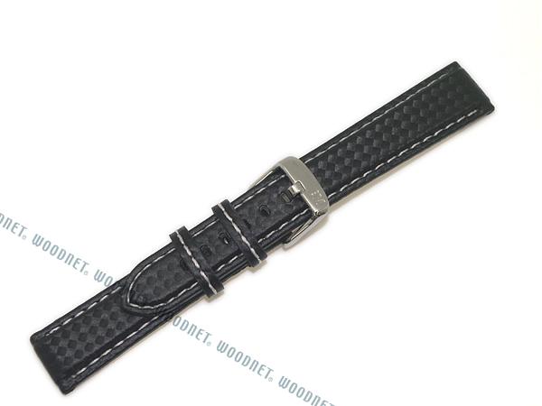 MORELLATO 腕時計ベルト バンド U3586 BIKING バイキング カーボン型押しラバー×ロリカ  ブラック×ホワイト