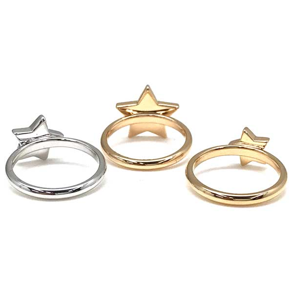 EMPORIO ARMANI  ゴールド×シルバー 3連リング・指輪 EG3366221