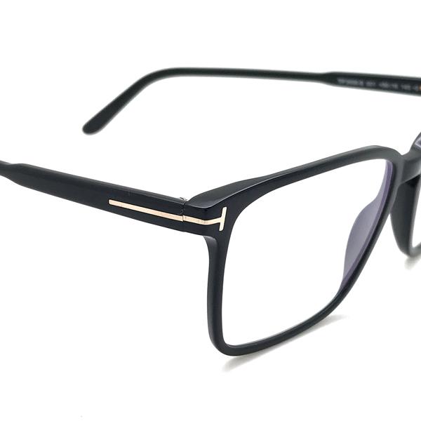 TOM FORD メガネフレーム ブラック 眼鏡 伊達メガネ用 ブルーライトカットレンズ付 パソコン用PCメガネ TF-5696B-001