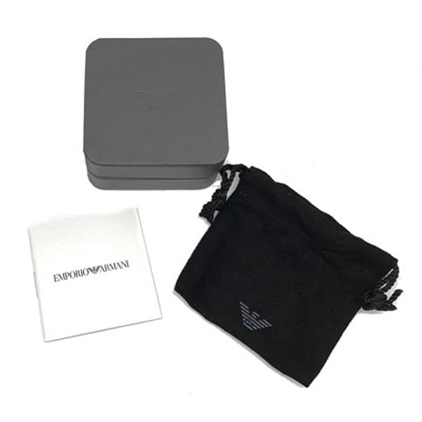 EMPORIO ARMANI ブレスレット マットブラック×マットシルバー リーフ EGS2610040