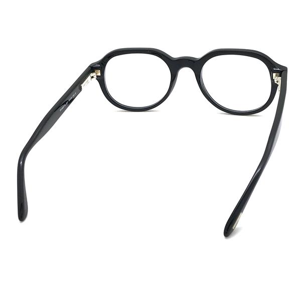 TOM FORD メガネフレーム ブラック  眼鏡 伊達メガネ用 ブルーライトカットレンズ付 パソコン用PCメガネ TF-5697B-001