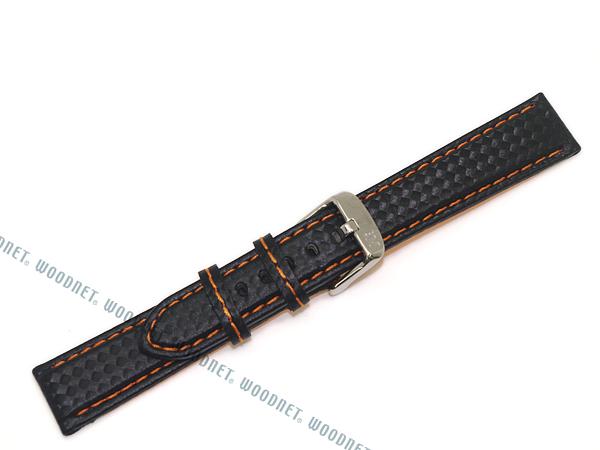 MORELLATO 腕時計ベルト バンド U3586 BIKING バイキング カーボン型押しラバー×ロリカ  ブラック×オレンジ
