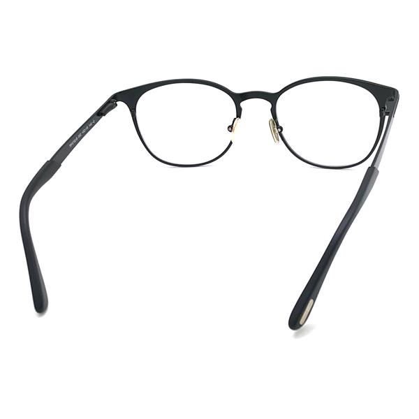 TOM FORD メガネフレーム マットブラック 眼鏡 伊達メガネ用 ブルーライトカットレンズ付 パソコン用PCメガネ TF-5732B-002
