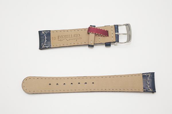 MORELLATO 腕時計ベルト バンド U3882 GUTTUSO グットゥーゾ カーフレザー  ダークブルー