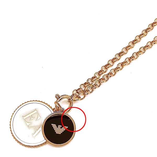 EMPORIO ARMANI ネックレス プレート  ゴールド ■■不良品値下げ処分■■ b1-EGS2585221