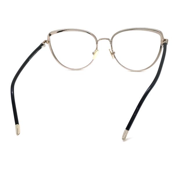 TOM FORD メガネフレーム ブラック×ゴールド 眼鏡 伊達メガネ用 ブルーライトカットレンズ付 パソコン用PCメガネ TF-5741B-001