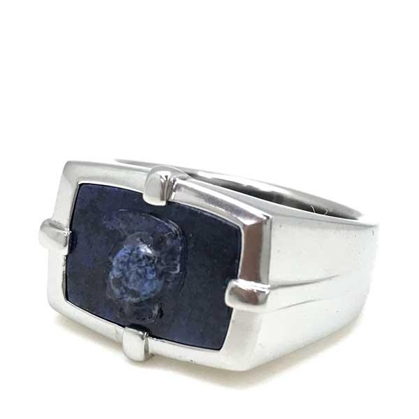 DIESEL リング・指輪 シルバー×ネイビー DX1176040