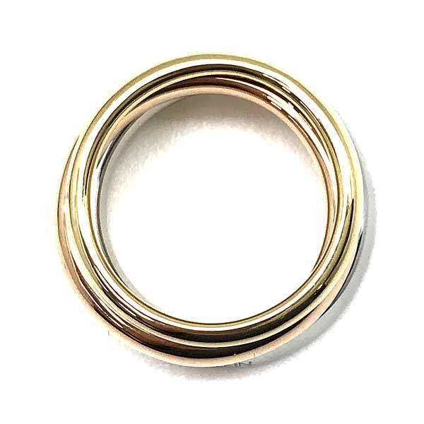 CALVIN KLEIN リング・指輪【レディース】ゴールド×ピンクゴールド×シルバー 3連 KJ8QDR3001