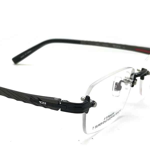 TUMI メガネフレーム ブラック 縁無し 眼鏡 TU-10-0078-01