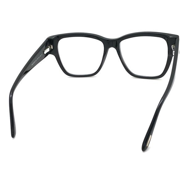 TOM FORD メガネフレーム ブラック 眼鏡 伊達メガネ用 ブルーライトカットレンズ付 パソコン用PCメガネ TF-5745B-001
