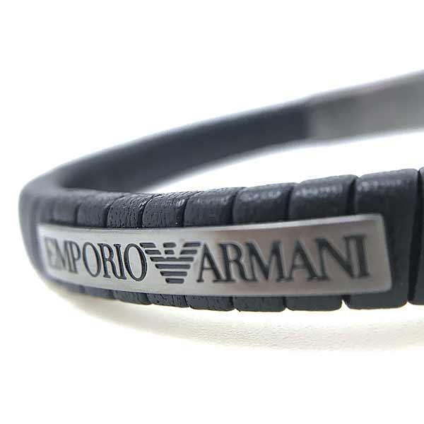 EMPORIO ARMANI ブレスレット ブラック×ガンメタル ブレスレット EGS2638060
