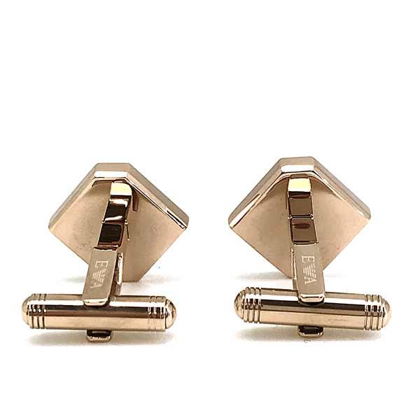 EMPORIO ARMANI カフスボタン ゴールド×マットシルバー イーグルロゴ EGS2636040