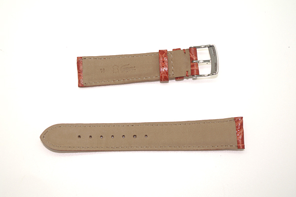 MORELLATO 腕時計ベルト バンド U0518 AMADEUS アマデウス クロコダイルレザー  オレンジ