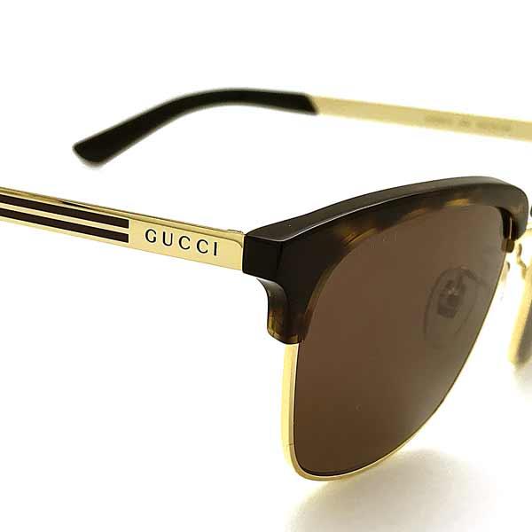 GUCCI サングラス ブラウンサングラス GUC-GG-0697S-002