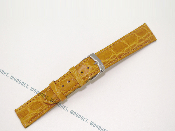 MORELLATO 腕時計ベルト バンド U0518 AMADEUS アマデウス クロコダイルレザー  イエロー