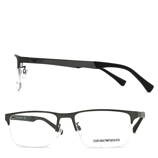 EMPORIO ARMANI メガネフレーム マットガンメタルシルバー 眼鏡 EA1110D-3003