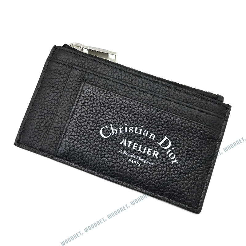 DIOR HOMME コインケース 財布 2ATBC056 型押しレザー 小銭入れ ブラック