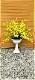 【造花アレンジフラワー】【大型アレンジ】【オンシジュームアレンジ】【黄色カラーは風水カラー 金運 幸運カラー】【送料無料】【高さ100cm】【触媒加工済】