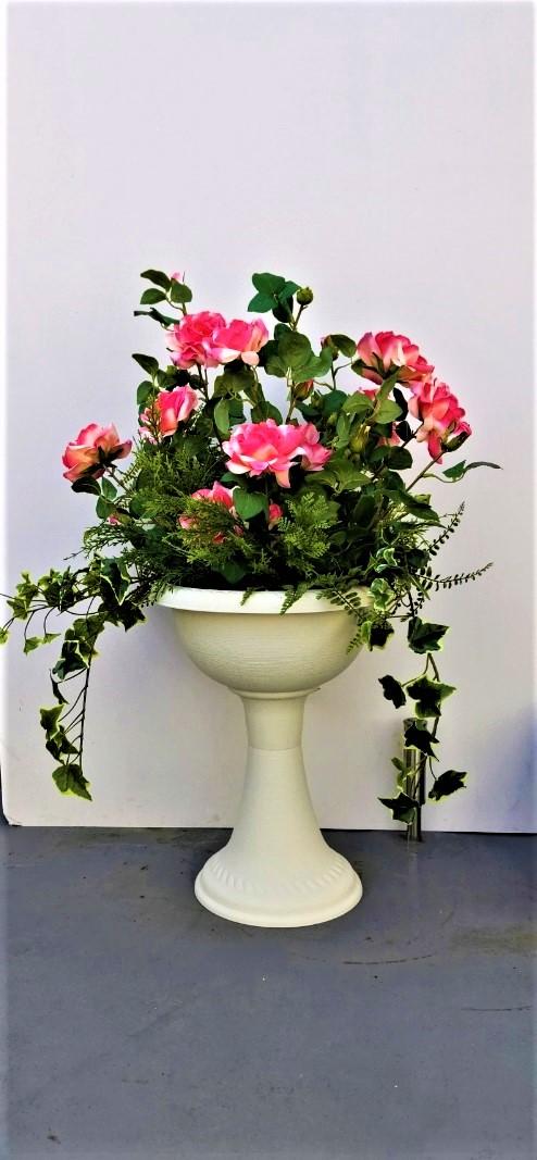【造花」【ガーデンローズプランター】【送料無料】