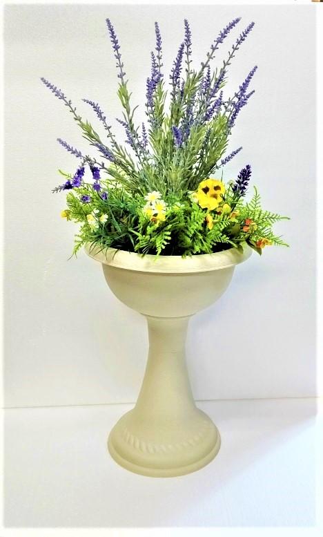 【造花ラベンダープランター】【ラベンダー】高さ80cm【送料無料】