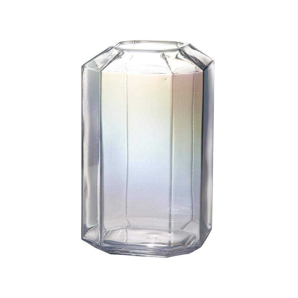 今話題の オーロラーカラーのガラス花器