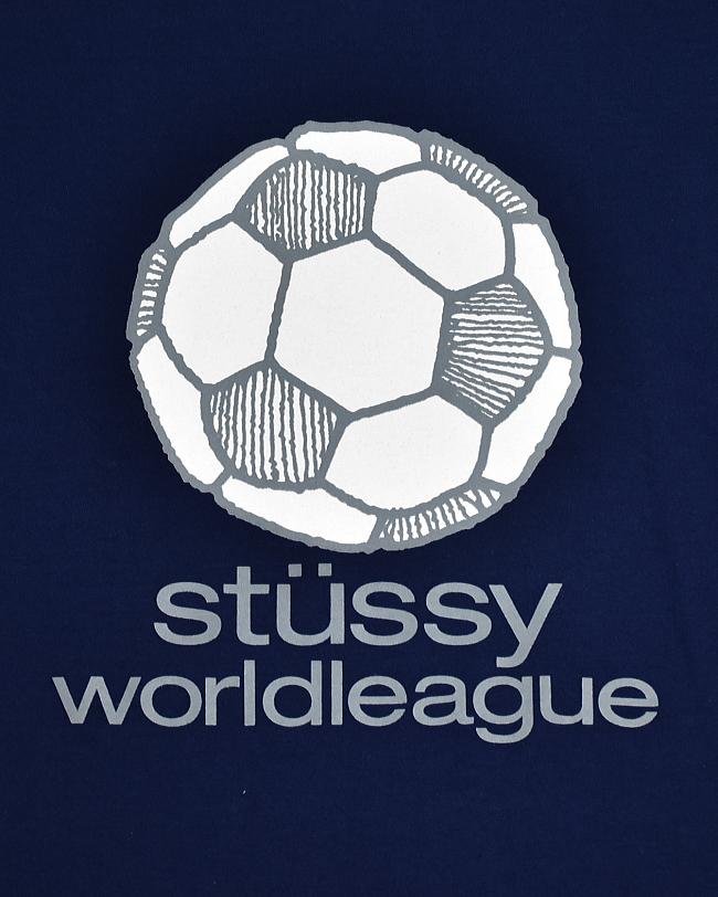 (USED30) DEADSTOCK (デッドストック) 1990's-2000's STUSSY (90-00年代 ステューシー) WORLDLEAGUE TEE (ワールドリーグTシャツ)【メール便対応可・メール便送料無料】