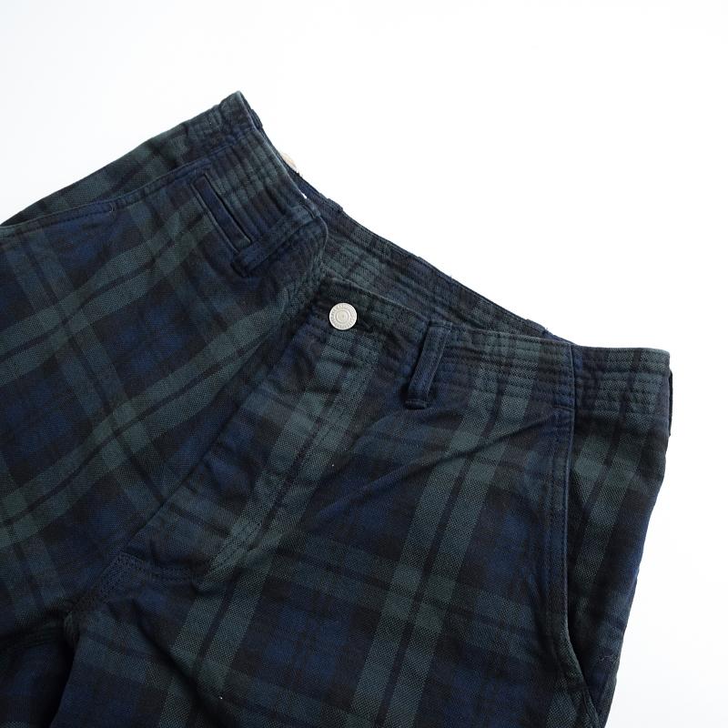 (SF-191490) SASSAFRAS (ササフラス) Sprayer Stream Pants 1/2 Black Watch (スプレイヤーストリームパンツ1/2/ショーツ)【宅配便送料無料】