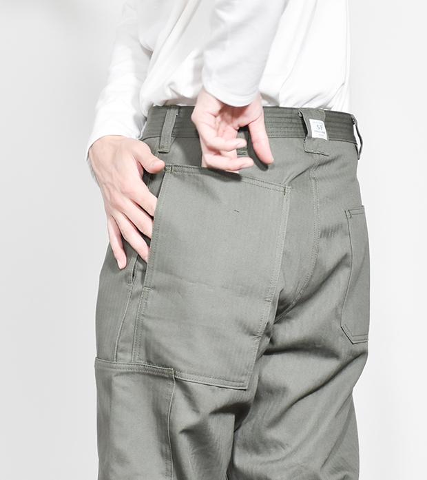 (SF-201730) SASSAFRAS (ササフラス) Transplant Pants /Herringbone(トランスプラントパンツ/ヘリンボーン)【宅配便送料無料】