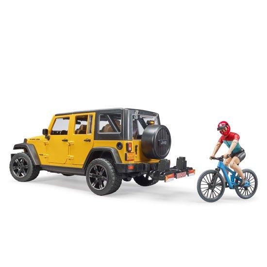 bruder ブルーダー Jeep Rubicon&マウンテンバイク(フィギュア付き) BR02543 正規販売店
