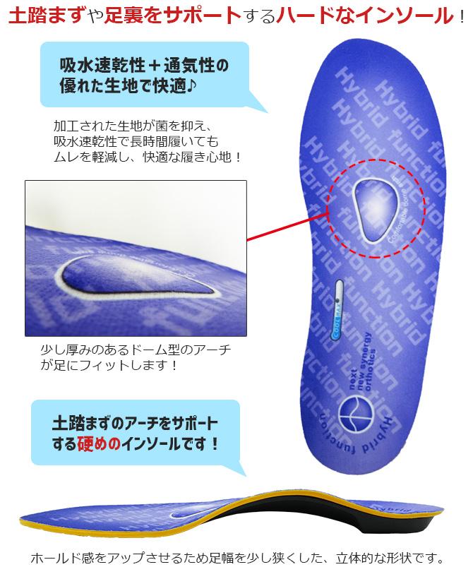 在庫処分セール インソール ハイブリッドファンクションインソール 中敷き 衝撃吸収 抗菌 防臭 フリーカット メンズ 25.0-28.0cm 喜多 No.6920