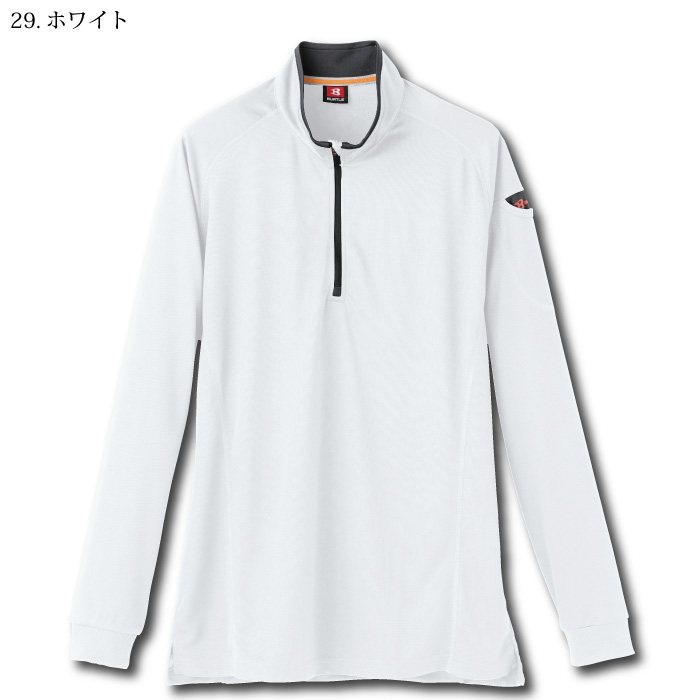 [バートル] 413 長袖ジップシャツ
