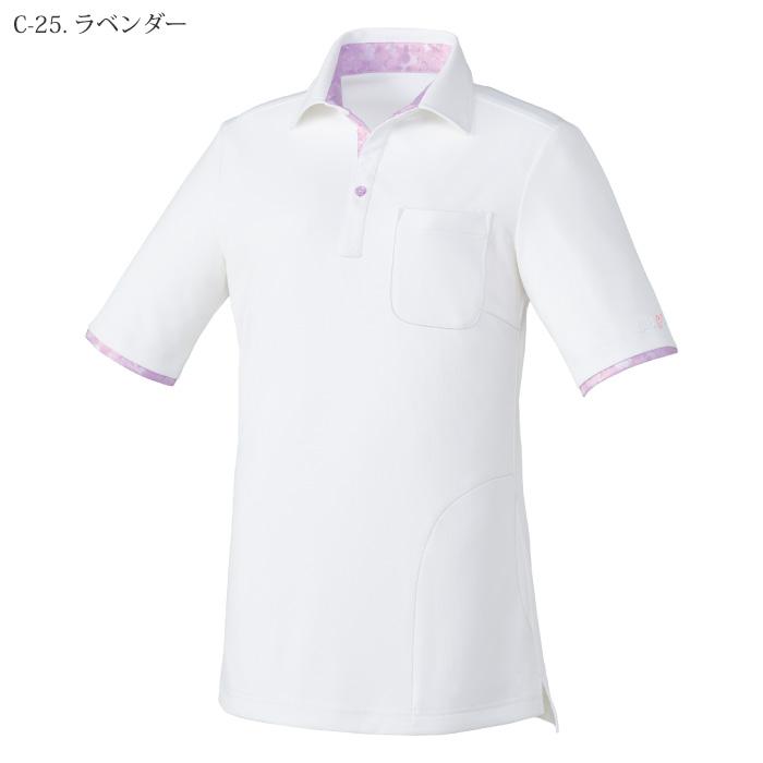 [ミッシェルクラン] MK0035 ニットシャツ(女)