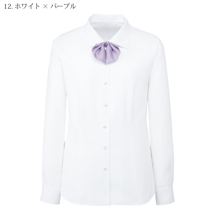 [nuovo] FB75541 長袖ブラウス(サテンリボンつき)
