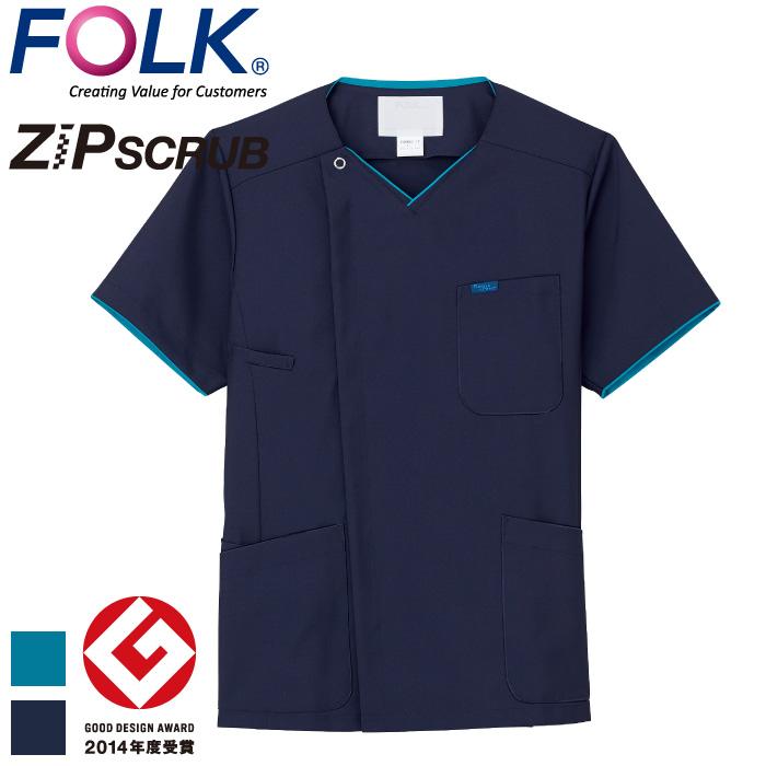 [FOLK] 7028SC メンズジップスクラブ