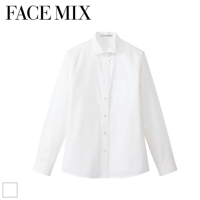 [FACE MIX] FB4025L レディスウイングカラー 長袖ブラウス
