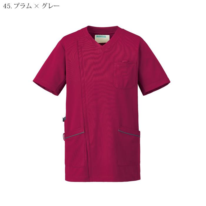 [KAZEN] 984 メンズスクラブジャケット半袖