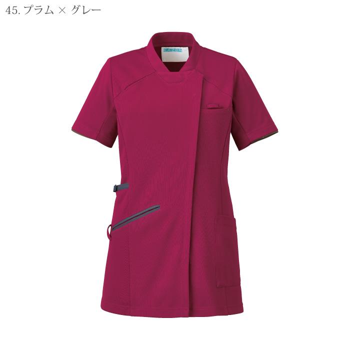 [KAZEN] 985 レディスチュニックジャケット半袖