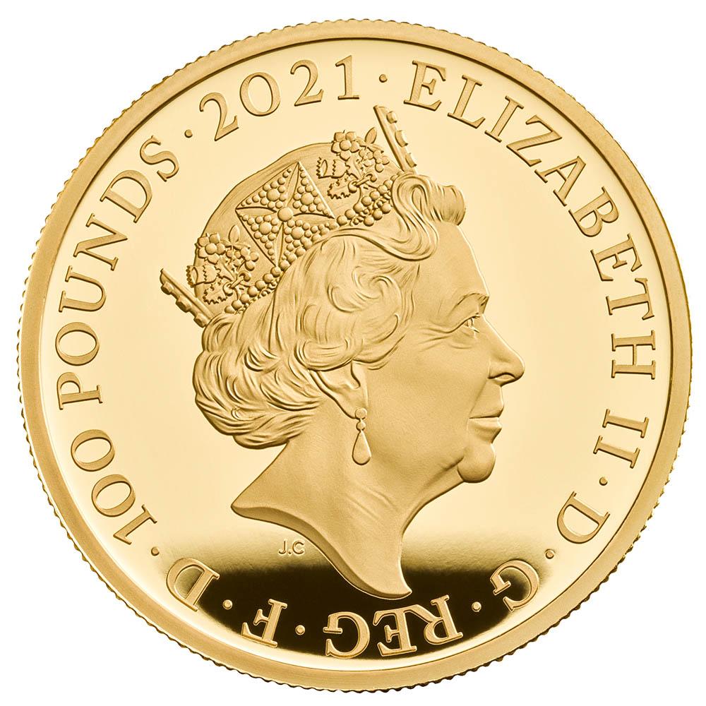 予約商品 2021 英国 不思議の国のアリス 100ポンド 金貨 1オンス プルーフ NGC PF 70 UC 最高鑑定 完全未使用品 元箱付 世界最安値! イギリス