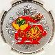 2011 中国 卯年兔図 10元 銀貨 1オンス プルーフ NGC PF 70 UC 最高鑑定 完全未使用品 カラー銀貨