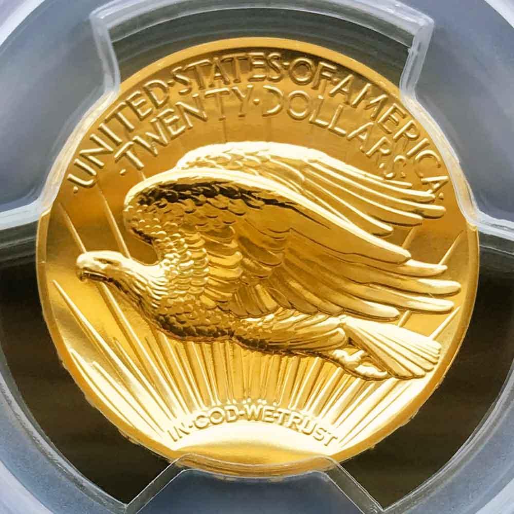 予約済み 2009 アメリカ ウルトラハイレリーフ ダブルイーグル 20ドル 金貨 1オンス 未使用 PCGS MS70 PL 最高鑑定 完全未使用品