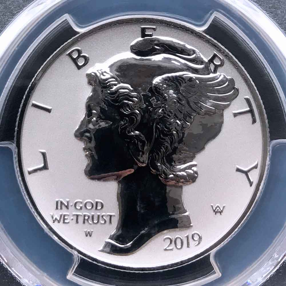 2019 アメリカ イーグル リバース プルーフ 25ドル パラジウム貨 1オンス PCGS PR70 FDOI 初鋳版 最高鑑定 自由の女神 リバティ