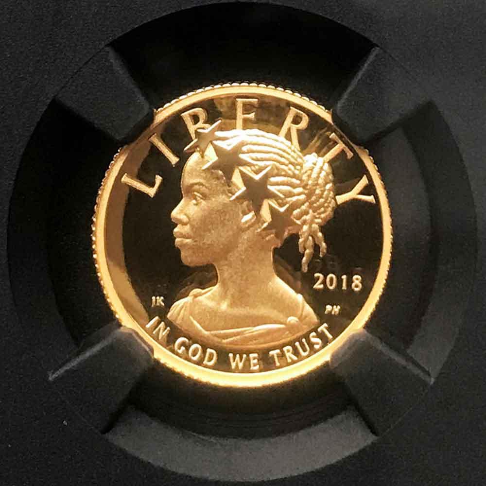 2018年 アメリカ ハイレリーフ プルーフ 自由の女神 10 ドル 金貨 NGC PF 70 UC ER 最高鑑定 元箱 証明書付 完品