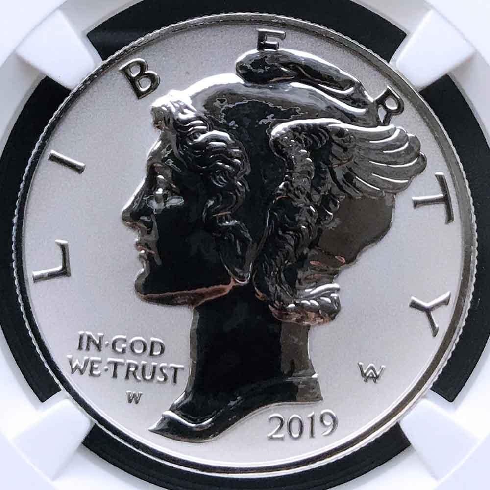 2019 アメリカ イーグル リバース プルーフ 25ドル パラジウム貨 1オンス NGC PF70 ER 初鋳版 最高鑑定 自由の女神 リバティ