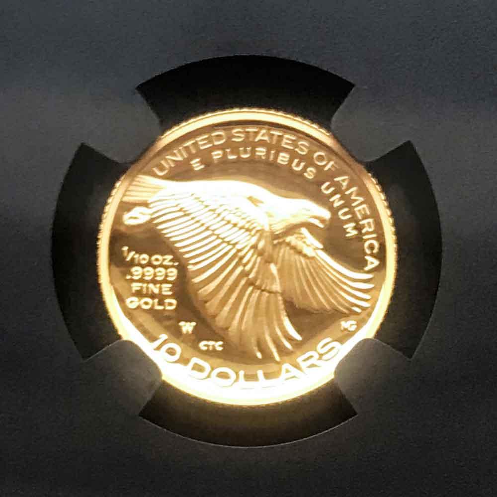 2018年 アメリカ ハイレリーフ 自由の女神 10 ドル 金貨 プルーフ NGC PF 70 UC ER 初鋳版 最高鑑定 元箱付 完品