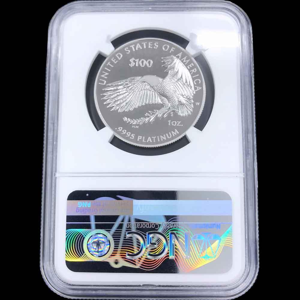 2018 アメリカ プルーフ イーグル 自由の女神 1オンス プラチナ貨 NGC PF70 UC ER 最高鑑定 白金貨 新しい スラブ