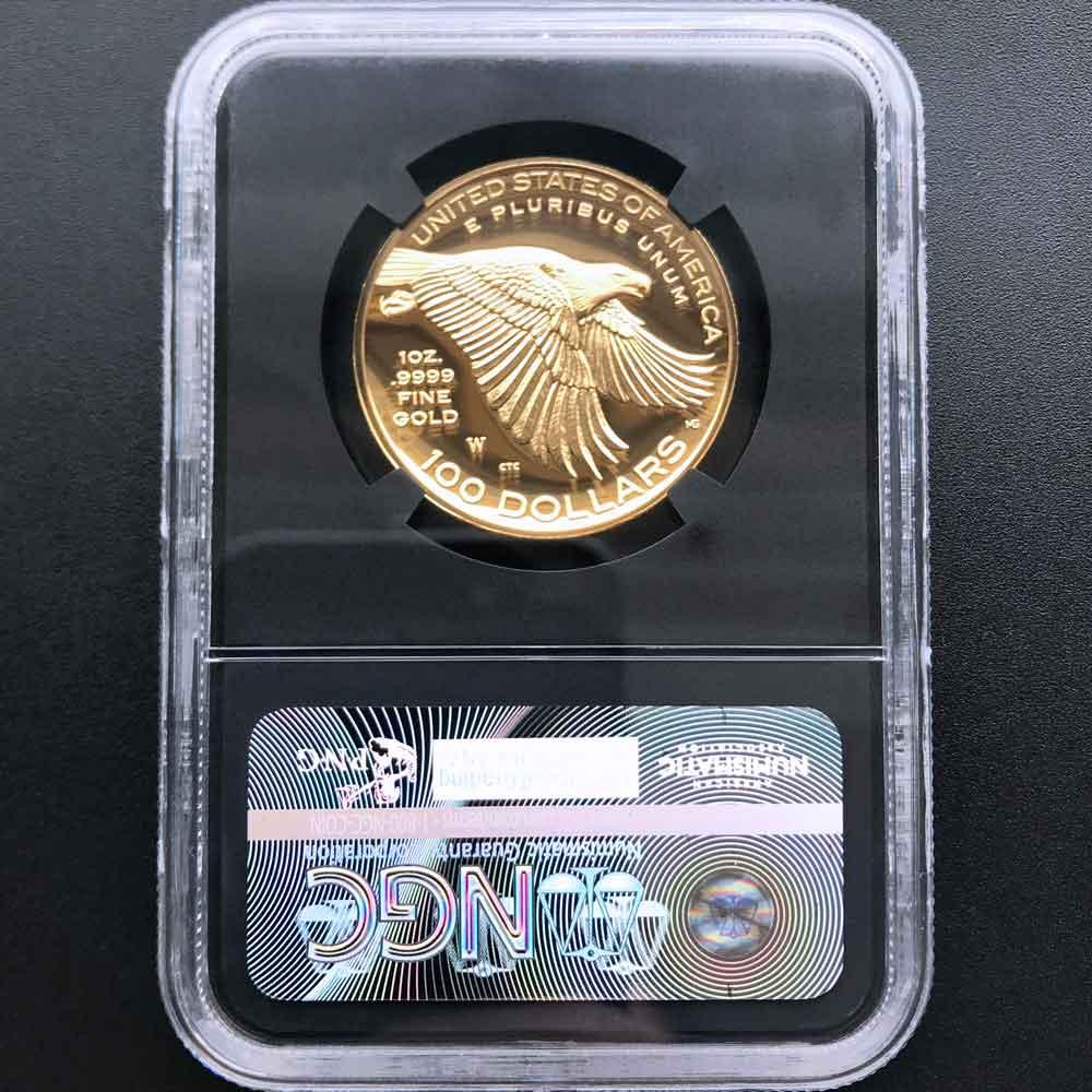 2017 アメリカ ハイレリーフ 自由の女神 225周年 金貨 1オンス プルーフ NGC PF70 UC FR 最高鑑定 完全未使用品 2019 ベスト·ゴールド·コイン