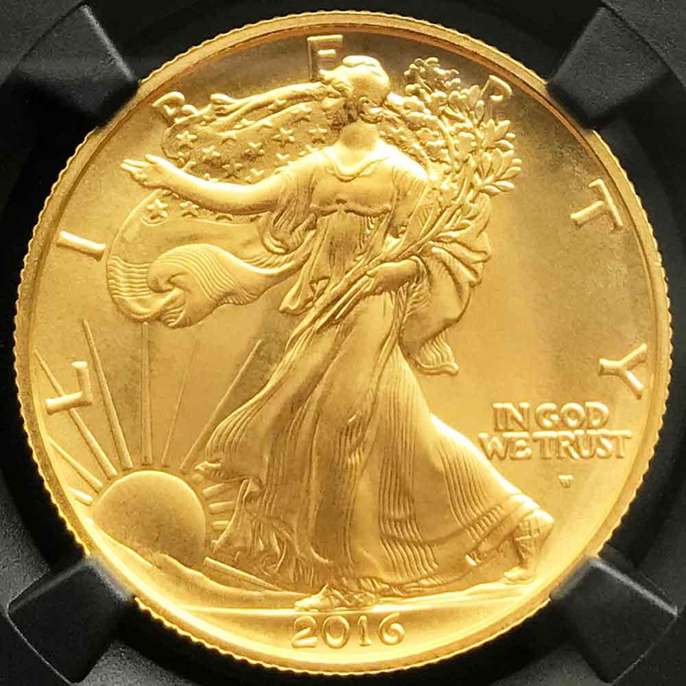 2016 アメリカ ウォーキングリバティ 50 セント 百年記念 金貨 1/2オンス 未使用 NGC SP70 ER 初鋳版 最高鑑定 元箱付