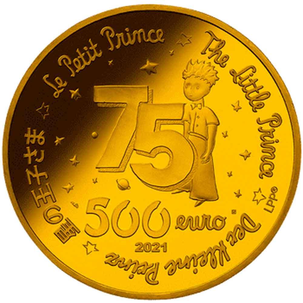 予約商品 2021 フランス 星の王子さま フランス版発刊75周年記念 500ユーロ 金貨 5オンス プルーフ NGC PF 69 UC ER 初鋳版 準最高鑑定 完全未使用品 元箱付 6246616-001