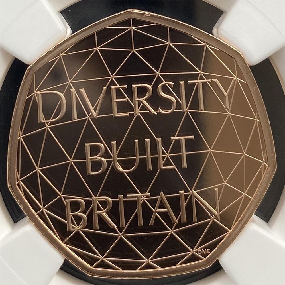 赤字覚悟 2020 英国 多様性を讃えて 50ペンス ピエフォー 金貨 プルーフ NGC PF 69 UC 準最高鑑定 完全未使用品 元箱付 世界最安値!イギリス