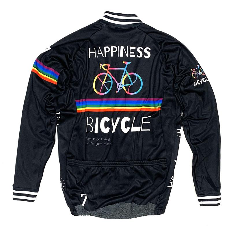 セブンイタリア Happiness Bicycle LS Jersey ブラック
